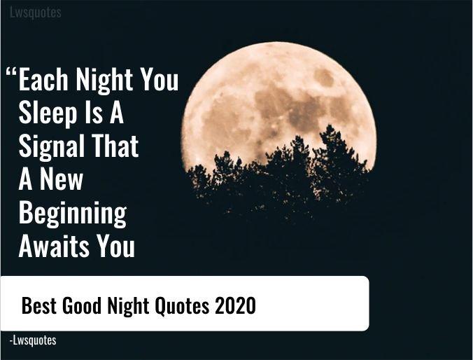 1200+ Best Good Night Quotes 2020