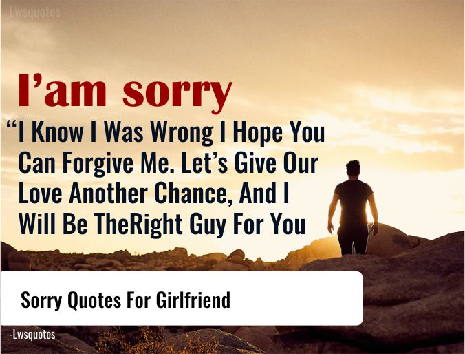 125 Sorry Quotes For Girlfriend Lwsquotes