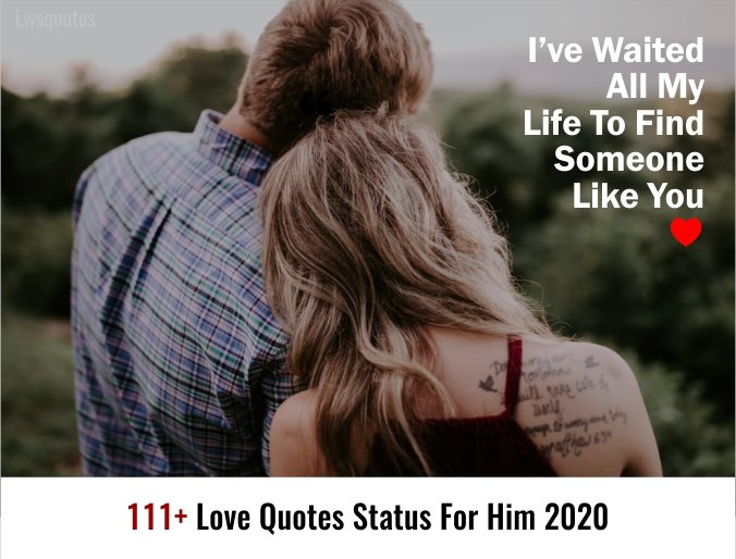 111+ Love Quotes Status For Him 2020