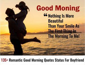 135+ Latest Romantic Good Morning Quotes Status For Boyfriend