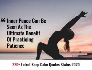 220+ Latest Keep Calm Quotes Status 2020
