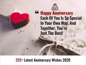 222+ Latest Anniversary Wishes 2020