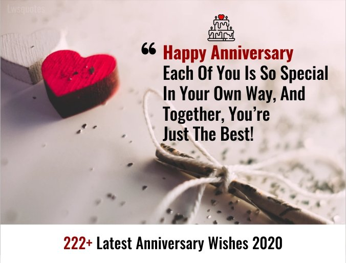 222+ Latest Anniversary Wishes 2020