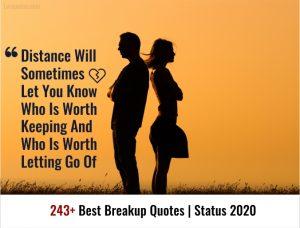 243+ Best Breakup Quotes Status 2020