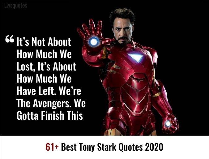 61+ Best Tony Stark Quotes 2020