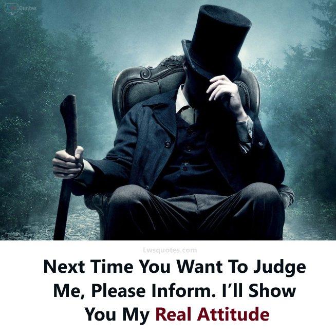 Royal Killer Attitude Quotes
