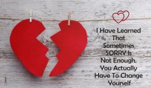 Sorry Love Quotes Status