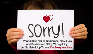 Sorry Quotes For Boy Friend