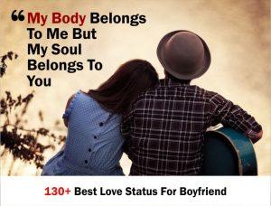 130+ Best Love Status For Boyfriend 2020