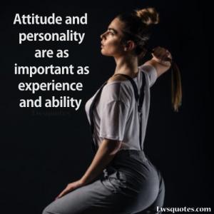 personality attitude quotes 2020