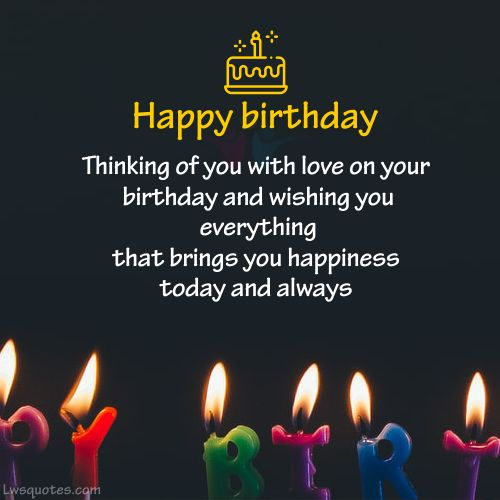 Thinking Of You Birthday Wishes